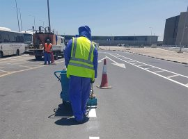 Qatar Airport, Road Lining Work